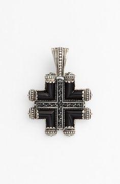 Free shipping and returns on Konstantino 'Ismene' Maltese Cross Pendant at Nordstrom.com. Regal flourishes convey the Grecian handcrafting characteristic of Konstantino designs in this versatile abstracted-cross pendant inlaid with black agate.