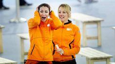 Margot Boer na het winnen van Olympisch brons #Sochi2014