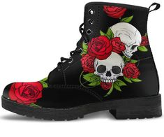 Skull & Roses Handcrafted Boots – You Shop Outlet