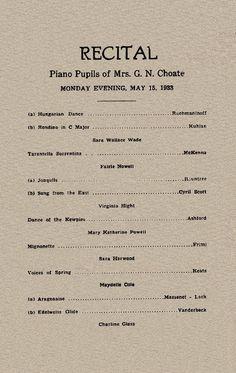 violin recital program template