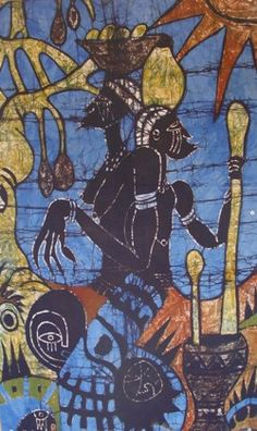 Famous batiks of the Gambia