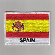 FLAG PATCH PATCHES Spain IRON ON COUNTRY EMBROIDERED WORLD FLAG