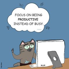 Focus on being productive instead of busy. #success #focus #productive #BeProductive #NotJustBusy #motivation #inspirational #quotes #TimFerriss