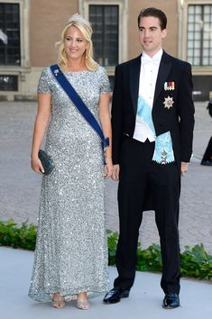 Princess Theodora of Greece and  Prince Philippos of Greece attend the wedding of Princess Madeleine of Sweden and Christopher O'Neill hosted by King Carl Gustaf XIV and Queen Silvia at The Royal Palace on June 8, 2013 in Stockholm, Sweden.