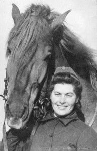 Lotta Svärd Yhdistys - Lotta with Horse (the Finnish Army relied on thousands of horses for transport, these tied up a great number of personnel, by 1939 most of whom were Lottas)