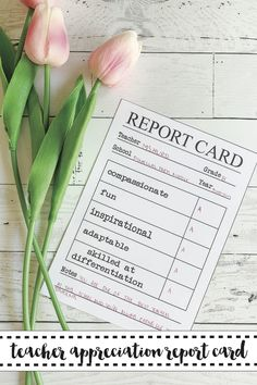 Show your teachers how much they mean to you with this FREE printable report card from Everyday Party Magazine for Teacher Appreciation Week #TeacherAppreciation #FreePrintable #EverydayPartyMagazineShop #ReportCard #BackToSchool