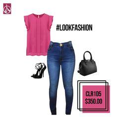 Rosa + #ParisJeans = #LookFasion www.paris-jeans,com