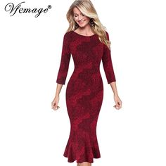 Find More Dresses Information about Vfemage Womens Elegant Vintage Autumn Mermaid Pinup Wear To Work Office Business Casual Party Fitted Bodycon Dress 2158,High Quality dress contemporary,China wear under prom dress Suppliers, Cheap wear sheer dress from Valuefashionshop on Aliexpress.com