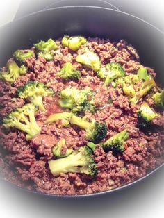 Minced beef w/ brocolli:)