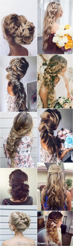 Idée Tendance Coupe & Coiffure Femme 2018 : 60 Prom Hairstyles for Long Hair Side Hairstyles, Wedding Hairstyles For Long Hair, Fancy Hairstyles, Straight Hairstyles, Hairstyle Ideas, Hairstyle Wedding, Long Haircuts, Braided Hairstyles, Straight Updo