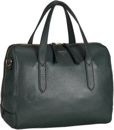Fossil Sydney Satchel Leather Hunter Green - Handtasche