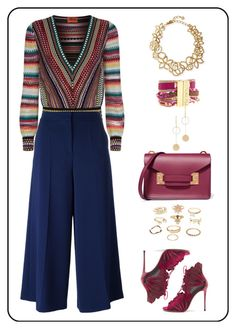 """""""Untitled #157"""" by rita-tahchi on Polyvore featuring Missoni, Boutique Moschino, Casadei, Hipanema, Oscar de la Renta, Sophie Hulme, Charlotte Russe and Cloverpost"""