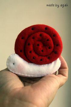 Poppy Snail by made by agah, via Flickr