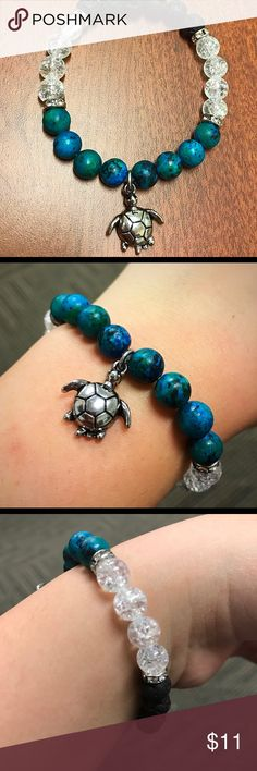 Turquoise Turtle stretch bracelet Handmade! Beautiful stretch stacking bracelet. Boho style Jewelry Bracelets