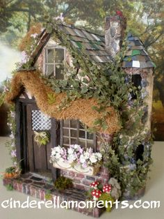 Charmed Cottage 1 Inch Scale Custom Old World Dollhouse. $557.00, via Etsy.