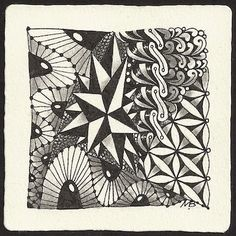 Enthusiastic Artist: tangles: Coaster, C-scape, Fife, Flux, Starburst and Tipple