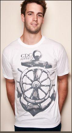 Mens Anchor T-shirt - £12