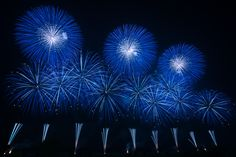 https://flic.kr/p/wL8fMy | Blue Display | Koga Fireworks Festival, Koga city, Ibaraki pref, Japan