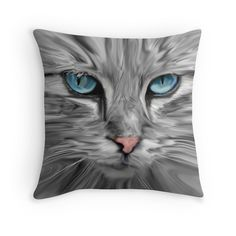 #Cute #Cat Eyes Face #Watercolor Oil #Painting #Art
