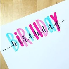 Geburtstags-Karten-Zeichnungs-Inspiration 50 Superideen, You are in the right place about DIY Birthday Cards for girlfriend Here we offer you the mo Lettering Tutorial, Bday Cards, Happy Birthday Cards, Tumblr Birthday Cards, Birthday Card With Photo, Happy Birthday Writing, Creative Birthday Cards, Birthday Card Design, Birthday Quotes
