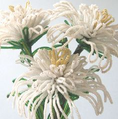 French Beaded Flowers (I have enjoyed making this flower)