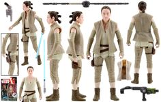 Rey (Resistance Outfit) (Hasbro - Star Wars: The Force Awakens (Build A Weapon)) - JediTempleArchives.com