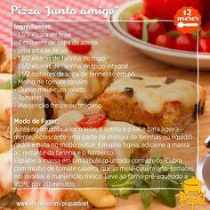 A receita completinha aqui <3 Todo mundo vai virar pizzaiolo <3 #amopizza #pizzaemmenosde30minutos #receitadasemana