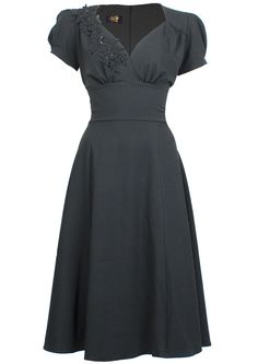 1940s Evening Dress - Victory Swing - Fashion 1930s, 1940s & 1950s style - vintage reproduction