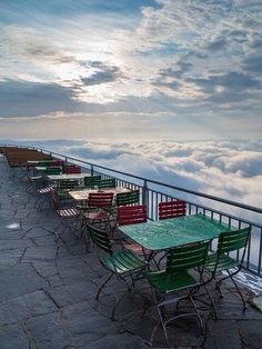 Omg, I want to have a coffee up here over the clouds - Swiss Alps