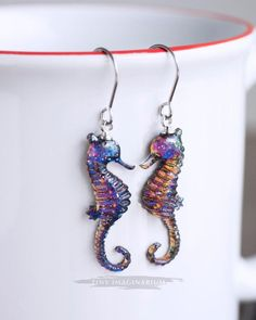 This gorgeous resin seahorse pendant necklace will take you under the sea.