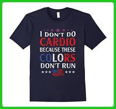 Mens I Don't Do Cardio - Funny 4th of July Shirts Small Navy - Workout shirts (*Amazon Partner-Link)
