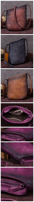 Handmade Full Grain Leather Bucket Bag 3415b677eef16