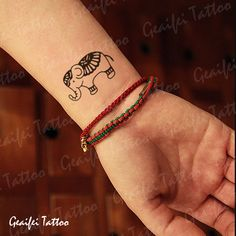 Best value Small Elephant Tattoos – Great deals on Small Elephant Tattoos from global Small Elephant Tattoos sellers Animal Tattoos For Women, Wrist Tattoos For Women, Tattoos For Women Small, Tattoos For Guys, Small Rib Tattoos, Trendy Tattoos, Cute Tattoos, Leg Tattoos, Dream Tattoos