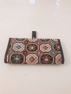 Vintage 1960s Carpet  Clutch Wallet Eckhart   by GarderobeCoco, ₪70.00