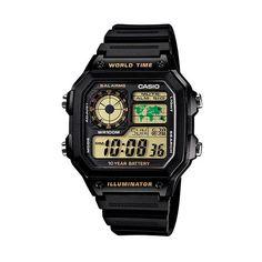 #Reloj Digital CASIO Vintage AE 1200WH -1B; Lleva el estilo clásico de Casio en tu muñeca con este reloj con correa de resina. En  http://www.opirata.com/reloj-digital-casio-vintage-1200wh-p-27828.html