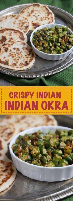 Crispy Indian Okra by Ashley of MyHeartBeets.com