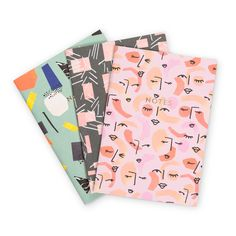 Jot down your ideas in style with the Sass Squad Set of Three Notebooks