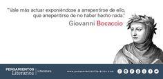 Giovanni Boccaccio. Sobre la osadía y el arrepentimiento.