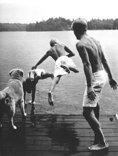 summer swimming and long dock lingers