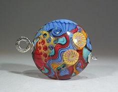 Cirque- Abstract Art Glass Focal bead- lampwork by Astrid Riedel. $120.00, via Etsy.