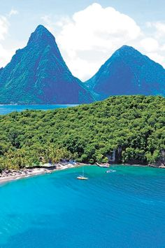 Beautiful view of St lucia by Anse Chasnet resort