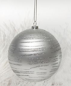 Another great find on #zulily! Silver Sparkle Swirl Ornament - Set of Two #zulilyfinds