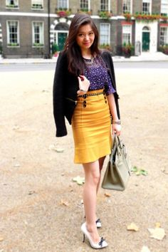 love this, love the yellow skirt and bows on the shoes