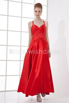 Beading Sleeveless Pageant Dresses Ankle-Length Prom Dresses 2013