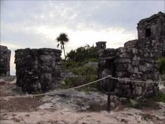 Tulum Ruins of the Maya in Quintana Roo, Mexico  Tulum ruin stands on a bluff facing the rising sun looking out on views of the Caribbean that are nothing less than spectacular. Tulum was a major link in the Maya's extensive trade network that ranged from Central Mexico to Central America . Both maritime and land routes converged here. In the beach area the Mayan ships, dedicated to trade around the peninsula, would have docked. Sponsor, http://www.mexico-myspaceclassifieds.com