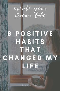 8 habits that changed my life // positive habits that have improved my life and you can start implementing them today. how I created a successful morning and night routine, how I manage my time, organize my environment etc. // personal development // self Self Development, Personal Development, Habits Of Successful People, Self Improvement Tips, Change My Life, Positive Mindset, Life Advice, Way Of Life, Best Self