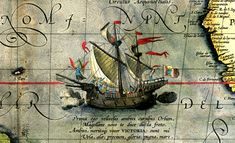 From Wikiwand: Victoria, the sole ship of Magellan's fleet to complete the circumnavigation. Detail from a map by Ortelius, 1590.