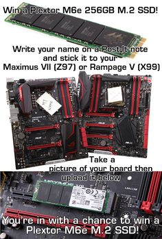 Win a Plextor M6E M.2 SSD for your Maximus VII (Z97) or Rampage V Extreme (X99) motherboard!