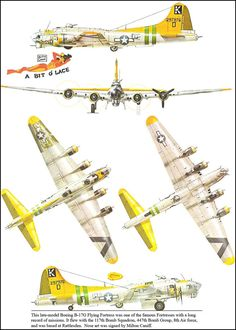 """Boeing B-17G Flying Fortress (K.297976.D) """"A Bit ò Lace"""" - 117th Bomb Squadron, 447th Bomb Group, 8th Air Force, basato a Rattlesden. Una delle fortezze volanti col maggior numero di missioni della guerra."""