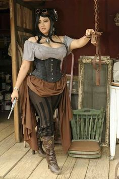 plus size halloween costumes 50 Sexy Halloween Costumes for Fat amp; Big Ladies Plus Size Women Fashion Moda Steampunk, Costume Steampunk, Steampunk Pirate, Steampunk Halloween, Steampunk Fashion, Gothic Fashion, Style Fashion, Steampunk Pants, Steampunk Female